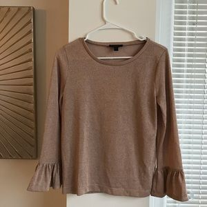 J. Crew Rose Gold Mid-Sleeve Top